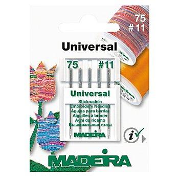 MADEIRA Maschinensticknadeln 'Universal', Stärke: 75, Inhalt: 5 Stück