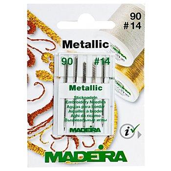 MADEIRA Aiguilles pour broderie à la machine 'Metallic', épaisseur : 90, 5 pièces