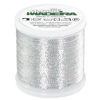 MADEIRA Stickgarn Metallic 'Brilliant', Stärke 40, 200 m-Spule, silber