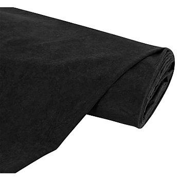 Tissu velouté 'aspect daim', noir