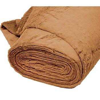 Tissu peluche, marron clair