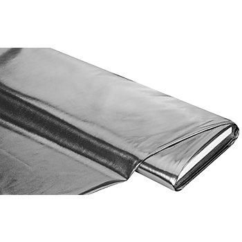 Tissu laqué scintillant, argenté