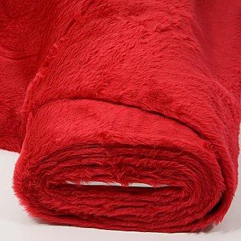 Tissu peluche, rouge
