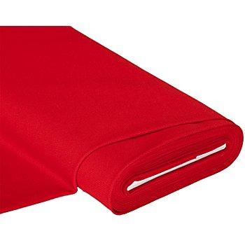 Stick- und Hardangerstoff, rot