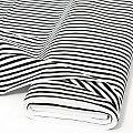 "Tissu coton ""rayures"", noir/blanc"