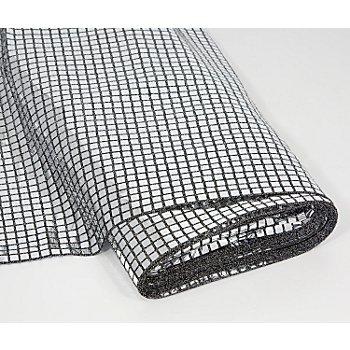 Karo-Paillettenstoff, silber, 100 cm breit