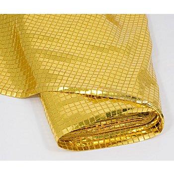 Karo-Paillettenstoff, gold, 100 cm breit