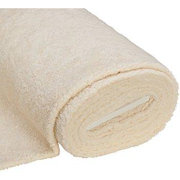 Tissu imitation fourrure en coton, blanc cassé