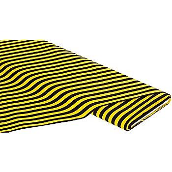 Tissu coton 'rayures', jaune/noir
