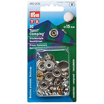 Prym Set de recharge de boutons pression sans couture, 15 mm Ø, 10 pièces