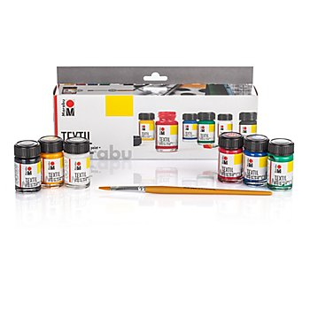 Marabu Stoffmalfarben-Set 'Grundfarben', 6x 15 ml