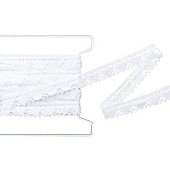 Herz-Klöppelspitze, weiß, Breite 2 cm, Länge 5 m
