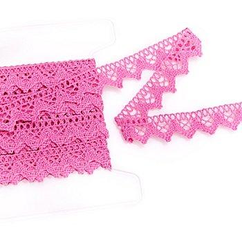 Klöppelspitze, pink, Breite 2 cm, Länge 5 m