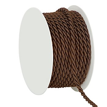 Cordelette, marron, 4 mm, 10 m
