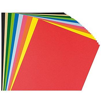Tonzeichenpapier, bunt, 29,7 x 42 cm, 10 Blatt