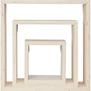 Wand-Regal-Set, 3 Stück