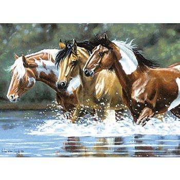 Malen nach Zahlen mit Acrylfarben 'Pferde', 40 x 30 cm