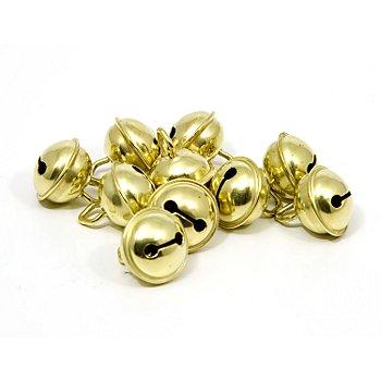 Messingschellen, 15 mm Ø, 10 Stück