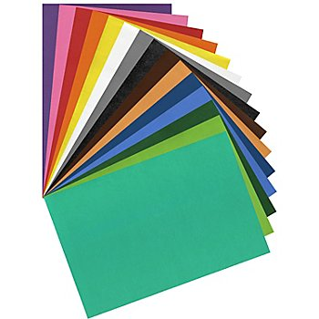 Moosgummi, bunt, 20 x 29 cm, 15 Bogen