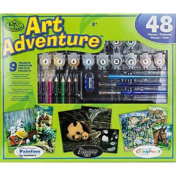 Vorteilsset Malen nach Zahlen + Kratzbilder 'Art Adventure'