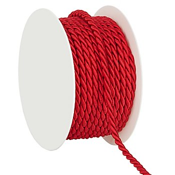 Cordelette, rouge, 4 mm, 10 m