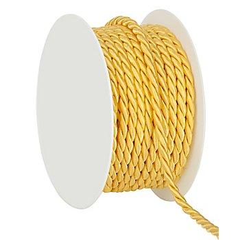 Kordel, gelb, 4 mm, 10 m