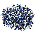 Perlenmischung, dunkelblau-silber, 4–12 mm, 80 g