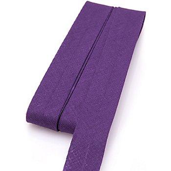 buttinette Baumwoll-Schrägband, lila, Breite: 2 cm, Länge: 5 m