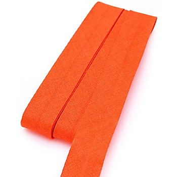 buttinette Biais en coton, orange, largeur : 2 cm, longueur : 5 m