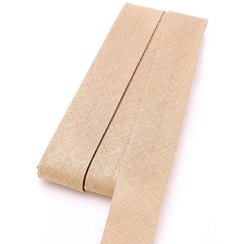 Image of buttinette Baumwoll-Schrägband, beige, Breite: 2 cm, Länge: 5 m