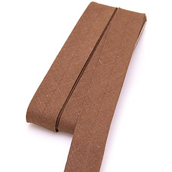 buttinette Baumwoll-Schrägband, rehbraun, Breite: 2 cm, Länge: 5 m