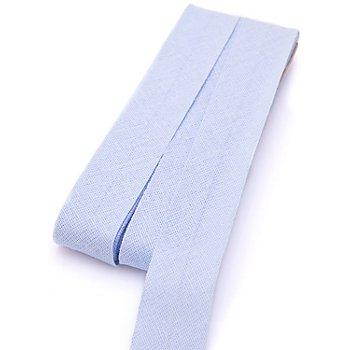 buttinette Baumwoll-Schrägband, hellblau, Breite: 2 cm, Länge: 5 m