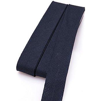 buttinette Baumwoll-Schrägband, marine, Breite: 2 cm, Länge: 5 m