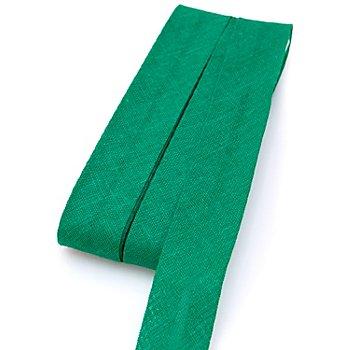 buttinette Baumwoll-Schrägband, grün, Breite: 2 cm, Länge: 5 m