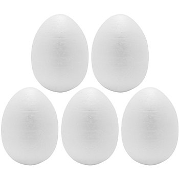 Œufs en polystyrène, blanc, en dimensions différentes