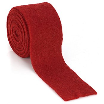 Filzband, rot, 7,5 cm, 3 m