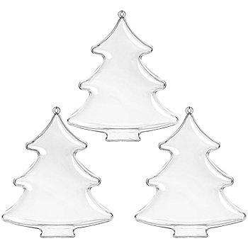 Kunststoff-Formen 'Tanne', 13 cm, 3 Stück