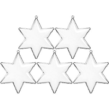 Kunststoff-Formen 'Stern', 10 cm, 5 Stück