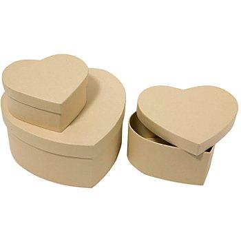 Boîtes en forme de cœur, 3 pièces