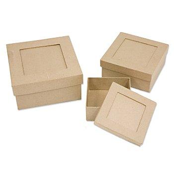 Set de boîtes carrées, 3 pièces
