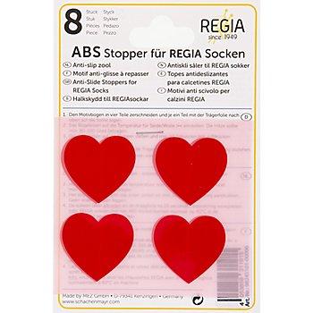 Regia Motifs anti-glisse à repasser 'cœurs', rouge
