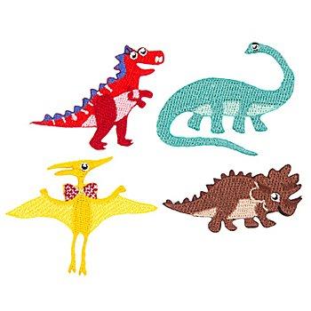 Applikationen 'Dinosaurier', Größe: 1,5 - 5,5 cm, Inhalt: 4 Stück