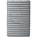 buttinette Cordon pour veste, gris clair, 8 mm Ø, longueur : 5 m