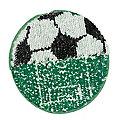 """buttinette Wende-Applikation """"Fussball"""", 13 cm Ø"""