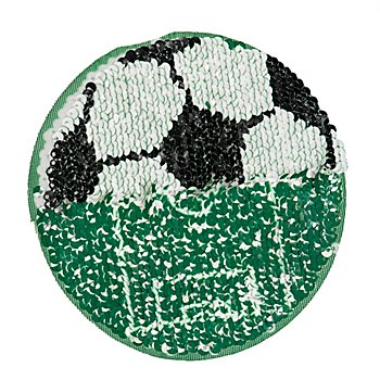 buttinette Wende-Applikation 'Fussball', 13 cm Ø