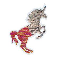 Motif à coudre et à repasser à paillettes réversibles 'Licorne', 22 x 17,5 cm