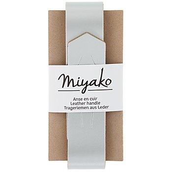 Lederriemen 'Miyako' für Taschen, silber