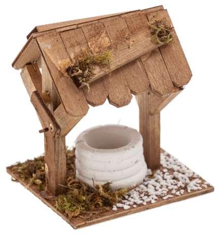 Puits en bois pour crèche de Noël, 11 x 10 x 13 cm | acheter en