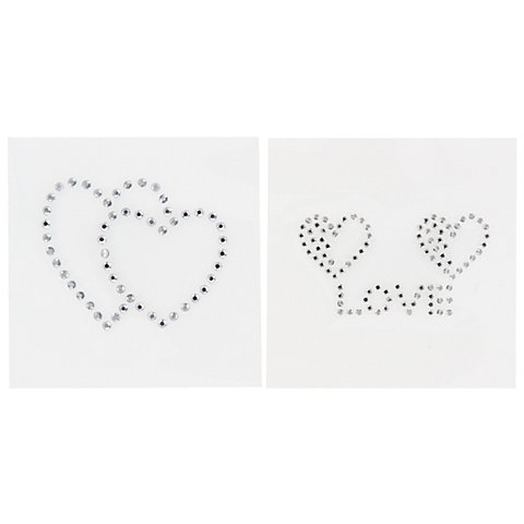 "Image of buttinette Strass-Applikationen ""Liebe"", 6 cm, Inhalt: 2 Motive"
