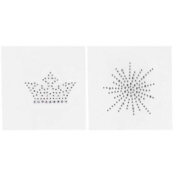 buttinette Strass-Applikationen 'Krone & Wirbel', 5 - 8 cm, Inhalt: 2 Motive